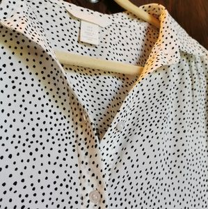 Spotted H&M Button-Down Blouse
